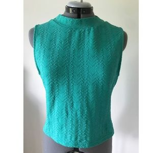 Teal crop top from H & M